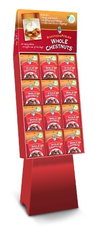 Season Roasted & Peeled Whole Chestnuts Display Shipper (Case of 48)