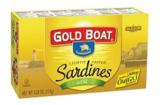 Gold Boat Sardines in Salted Olive Oil - Club Pack
