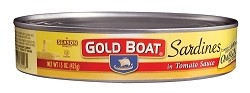Gold Boat Sardines in Tomato Sauce - Oval Can