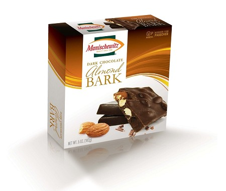 Manischewitz Dark Chocolate Almond Bark - Gift Box - Pareve, 5 oz. (Case of 12)