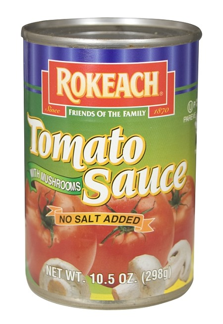 Rokeach No Salt Added Tomato Sauce With Mushrooms, 10.5 oz. (Case of 24)