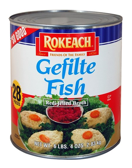 Rokeach #10 Can Gefilte Fish in Jelled Broth, 28 Pc.