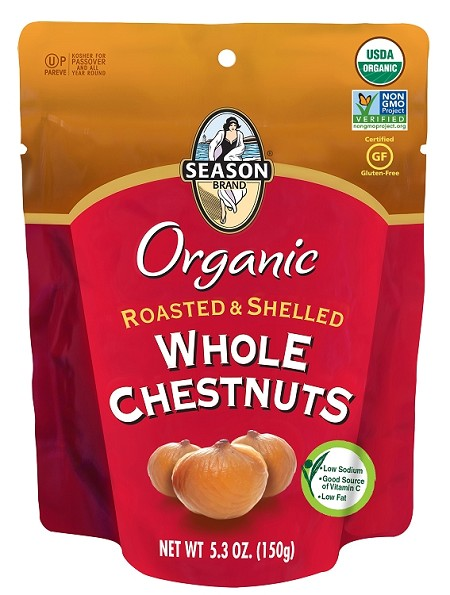 Season Gluten Free Roasted & Shelled Whole Chestnuts, 5.3 oz. (Case of 12)
