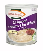 Manischewitz Hot Wheat Cereal Canister 12 oz. (Case of 12)