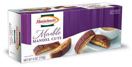 Manischewitz Marble Mandel Cuts, 6 oz. (Case of 12)