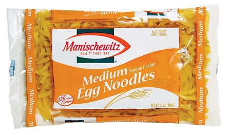 Manischewitz Medium Egg Noodles, 12 oz. (Case of 12)