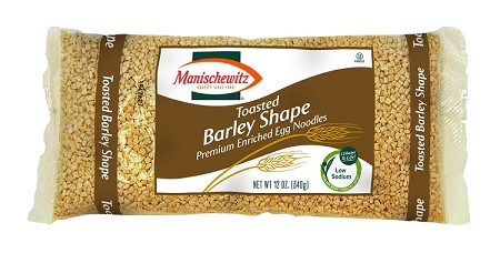 Manischewitz Barley Shaped Toasted Egg Noodles, 12 oz. (Case of 12)