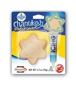 2 Chanukah Cookie's with Decorating Icing, Star of David