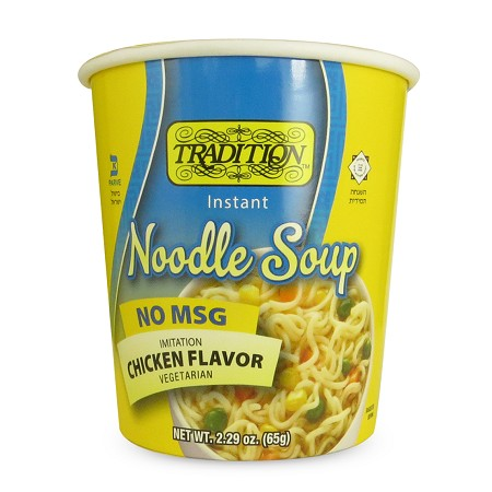 Tradition No MSG Added Chicken Flavor Instant Noodle Soup - Cup, 2.29 oz. (Case of 12)