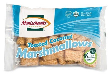 Manischewitz Toasted Coconut Marshmallows, 10 oz. (Case of 12)