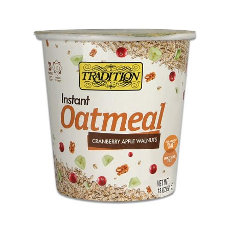 Tradition All Natural Cranberry Apple Walnuts Instant Oatmeal - Cup, 1.8 oz. (Case of 12)