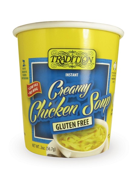 Tradition Gluten Free No MSG Added Creamy Chicken Flavor Instant Noodle Soup - Cup, 2 oz. (Case of 12)