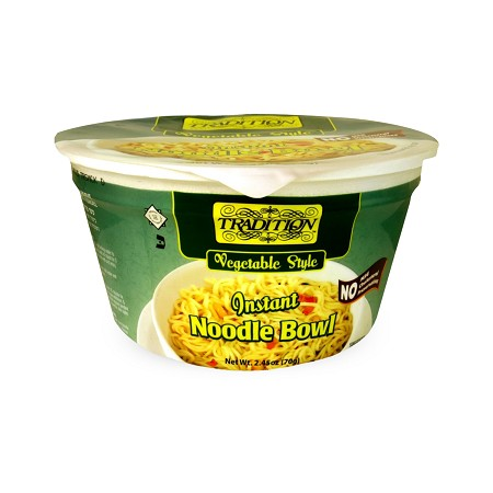 Tradition Vegetable Style Instant Noodle Bowl, 2.45 oz. (Case of 12)