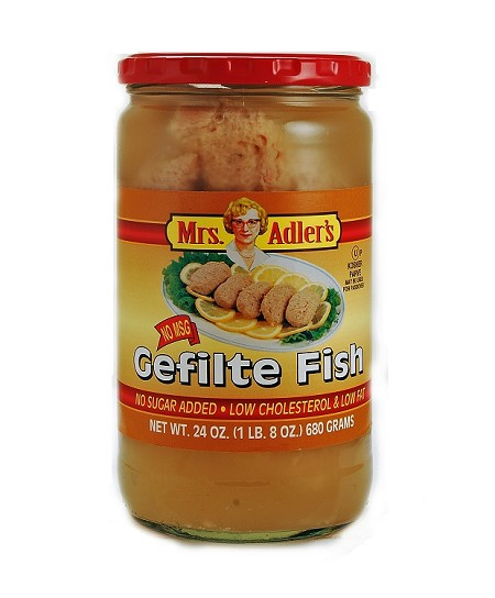 Mrs. Adler's No Sugar Added Gefilte Fish, 24 oz. (Case of 12)