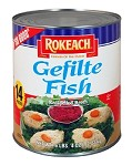 Rokeach #10 Cans Gefilte Fish in Jelled Broth, 14 Pc. (Case of 6)