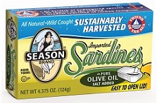 Season Club Sardines In Olive Oil - Easy Open - Morocco