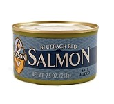 Season Salt Added Blueback Red Salmon, 7.5 oz. (Case of 12)