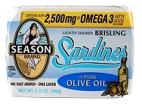 Season One Layer No Salt Added Lightly Smoked Brisling Sardines In Pure Olive Oil, 3.75 oz. - Scotland (Case of 12)