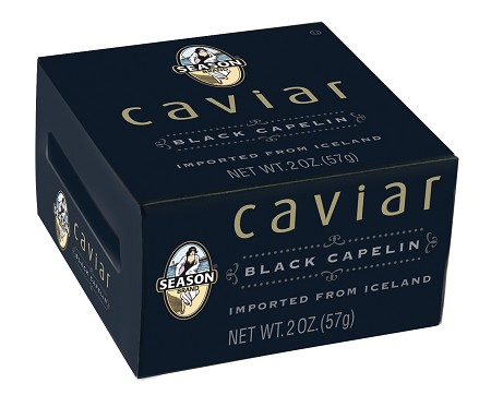 Season Black Capelin Caviar 2 oz.