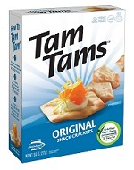 Manischewitz Original Tam Tams Snack Crackers, 9.6 oz. (Case of 12)
