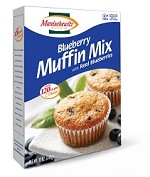 Manischewitz Blueberry Muffin Mix with Real Blueberries, 12 oz. (Case of 12)