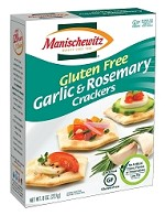 Manischewitz Gluten Free Garlic & Rosemary Crackers, 8 oz. (Case of 12)