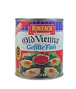 Rokeach 8 Pieces Old Vienna Gefilte Fish in Jelled Broth, 28 oz. (Case of 12)