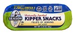 Season Naturally Smoked Kipper Snacks, Salt Added, 3.25 oz. (Case of 24)