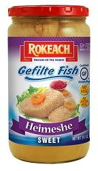Rokeach Heimeshe Style Sweet Gefilte Fish, 24 oz. (Case of 12)