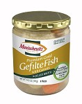 Manischewitz Premium Gold Gefilte Fish with Carrots in Jelled Broth, 14.5 oz. (Case of 12)