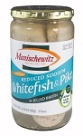 Manischewitz Reduced Sodium Whitefish & Pike in Jelled Broth, 24 oz. (Case of 12)