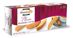 Manischewitz Plain Mandel Cuts, 6 oz. (Case of 12)