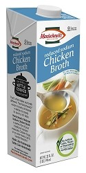 Manischewitz Reduced Sodium Chicken Broth, 32 oz. (Case of 12)