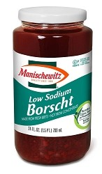 Manischewitz Low Sodium Borscht, 24 oz. (Case of 12)