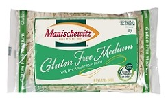 Manischewitz Gluten Free Yolk Free Medium Noodles, 12 oz., Product of Israel (Case of 12)