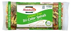 Manischewitz Gluten Free Yolk Free Tri-Color Spiral Shaped Noodles, 10 oz., Product of Israel (Case of 12)