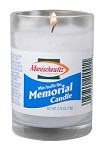 Manischewitz Memorial/Yahrzeit Candle - Glass (Case of 24)