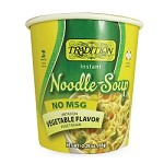 Tradition No MSG Added Vegetable Flavor Instant Noodle Soup - Cup, 2.29 oz. (Case of 12)