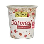 Tradition All Natural Maple and Brown Sugar Instant Oatmeal - Cup, 1.69 oz. (Case of 12)